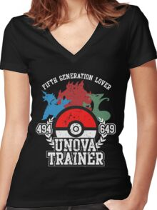 5th Generation Trainer (Dark Tee) Women's Fitted V-Neck T-Shirt