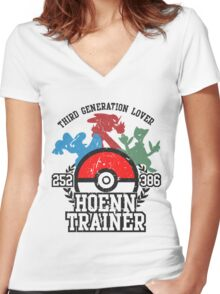 3th Generation Trainer (Light Tee) Women's Fitted V-Neck T-Shirt