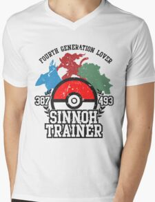 4th Generation Trainer (Light Tee) Mens V-Neck T-Shirt