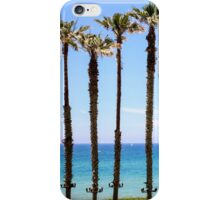 Palm trees on a beach. Photographed on the Mediterranean shore iPhone Case/Skin