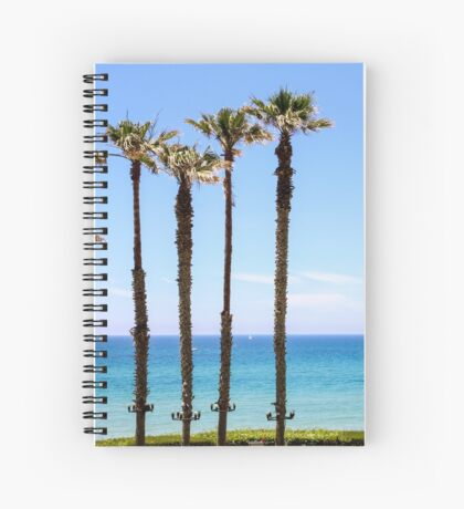 Palm trees on a beach. Photographed on the Mediterranean shore Spiral Notebook