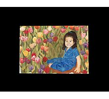 Crystal with tulips Photographic Print