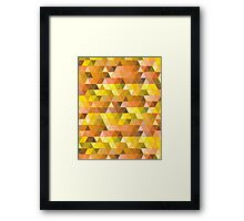 yellow triangles... Framed Print