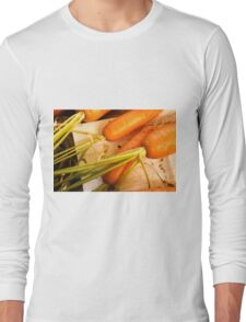 Home grown carrots from a small Organic vegetable patch  Long Sleeve T-Shirt