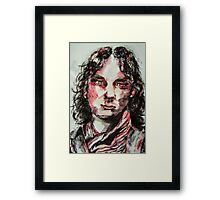 Ink and water portrait  Framed Print