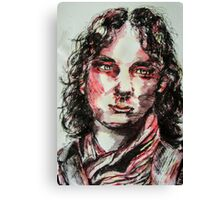 Ink and water portrait  Canvas Print