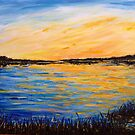 Sunset on the Bay - Cape Cod by Kimberly  Daigle