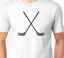 Crossed floorball rackets Unisex T-Shirt