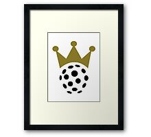 Floorball champion crown Framed Print
