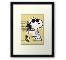 Snoopy Joe Cool & Woodstock Framed Print