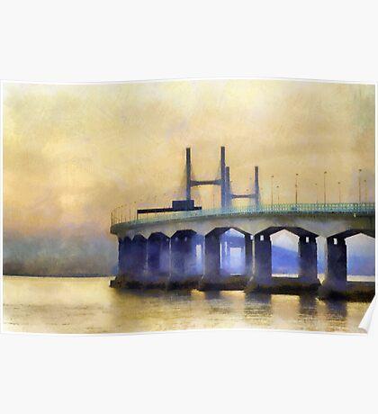 Severn Bridge, Bristol, UK Poster