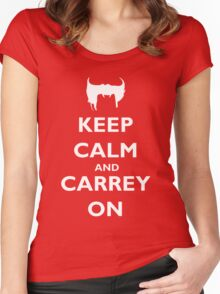 Keep Calm & Carrey On Women's Fitted Scoop T-Shirt