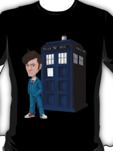 Tenth Doctor with TARDIS T-Shirt