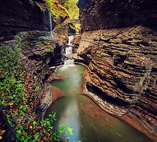 Watkins Glen Gorge by Stu-Gallagher
