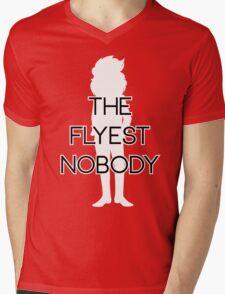 THE FLYEST NOBODY Silhouette 2 Mens V-Neck T-Shirt