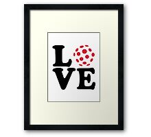 Floorball love ball Framed Print