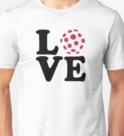 Floorball love ball Unisex T-Shirt