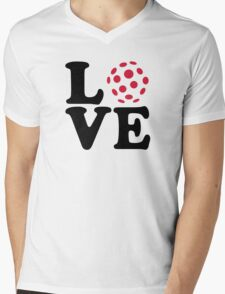Floorball love ball Mens V-Neck T-Shirt