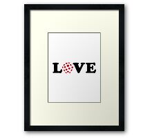 Floorball love Framed Print