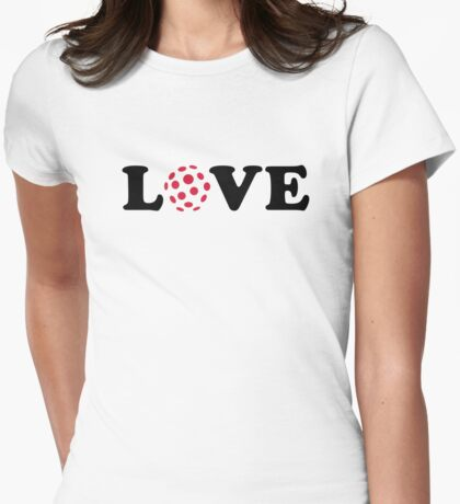 Floorball love Womens Fitted T-Shirt