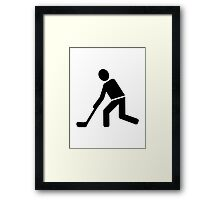 Floorball Player Framed Print