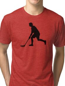 Floorball Player Tri-blend T-Shirt