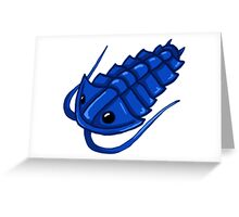 Blue Trilobite Greeting Card