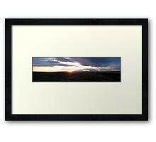 plains sunset Framed Print