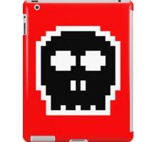Black Retro 8-bit Skull iPad Case/Skin