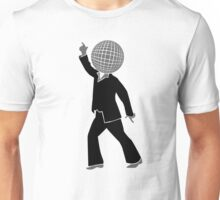 Dancer with disco ball as the head Unisex T-Shirt