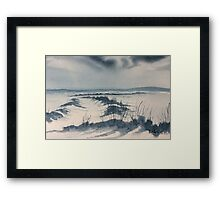 Winter Light over Lastingham Rigg Framed Print