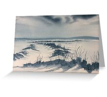 Winter Light over Lastingham Rigg Greeting Card