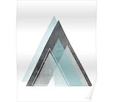 Aqua Mountains Poster