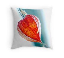 Physalis bloom Throw Pillow