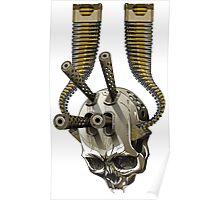 machine gun skull Poster