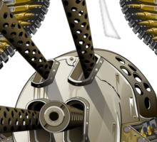 machine gun skull Sticker
