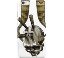 machine gun skull iPhone Case/Skin