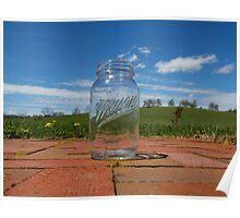 Mason Jar In Spring Poster