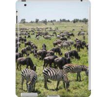 Zebra & Wildebeest Migration, Serengeti iPad Case/Skin