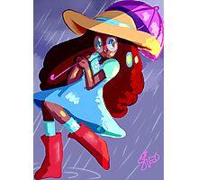Steven Universe: Connie in the Rain Photographic Print