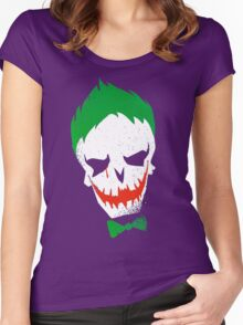 Suicide Squad-Joker (white) Women's Fitted Scoop T-Shirt
