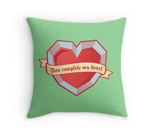 You complete my heart Throw Pillow