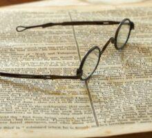 Book and Glasses Sticker