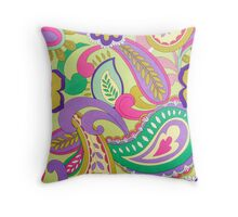 Funky Psychedelic Vintage Texture Throw Pillow