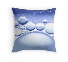 Blue Water Bubbles Macro Throw Pillow