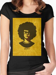 At the Drive-In (text version) Women's Fitted Scoop T-Shirt