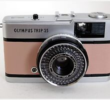 Olympus Trip in pink leather by Tripman