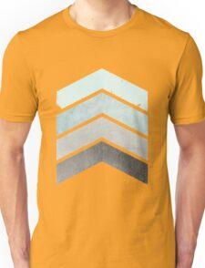 Ice Blue Chevrons Unisex T-Shirt