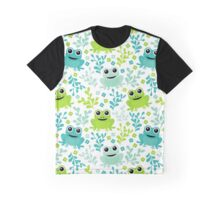 Frog Pattern Graphic T-Shirt
