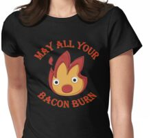 Bacon Burn Womens Fitted T-Shirt